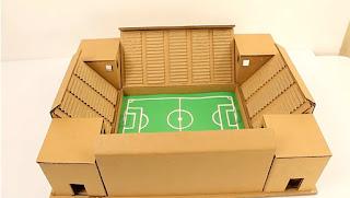 Cómo hacer una maqueta de un estadio en cartón