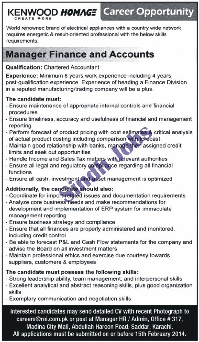 Sindh Jobs: Accounts Jobs