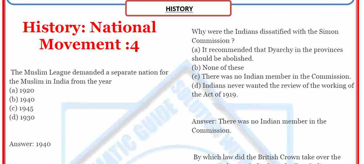 Movement pdf history national and india of indian