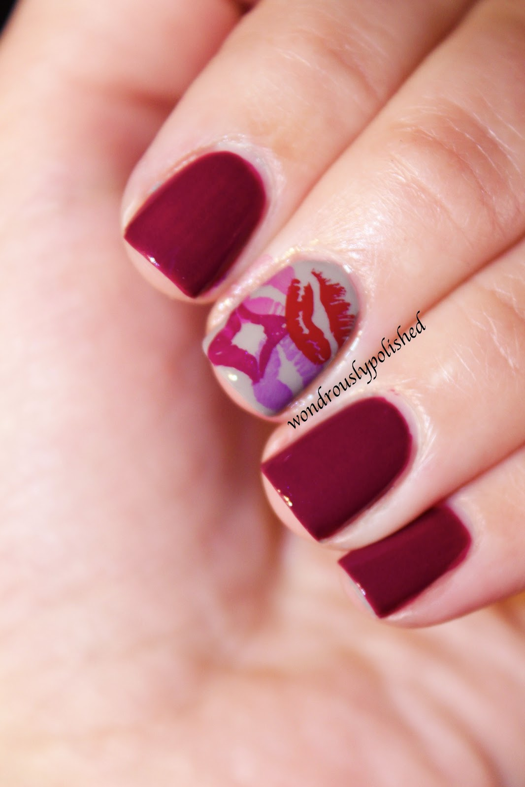 Nail Art Designs And Nail Polishes For French Manicure: Wondrously Polished: February Nail Art Challenge
