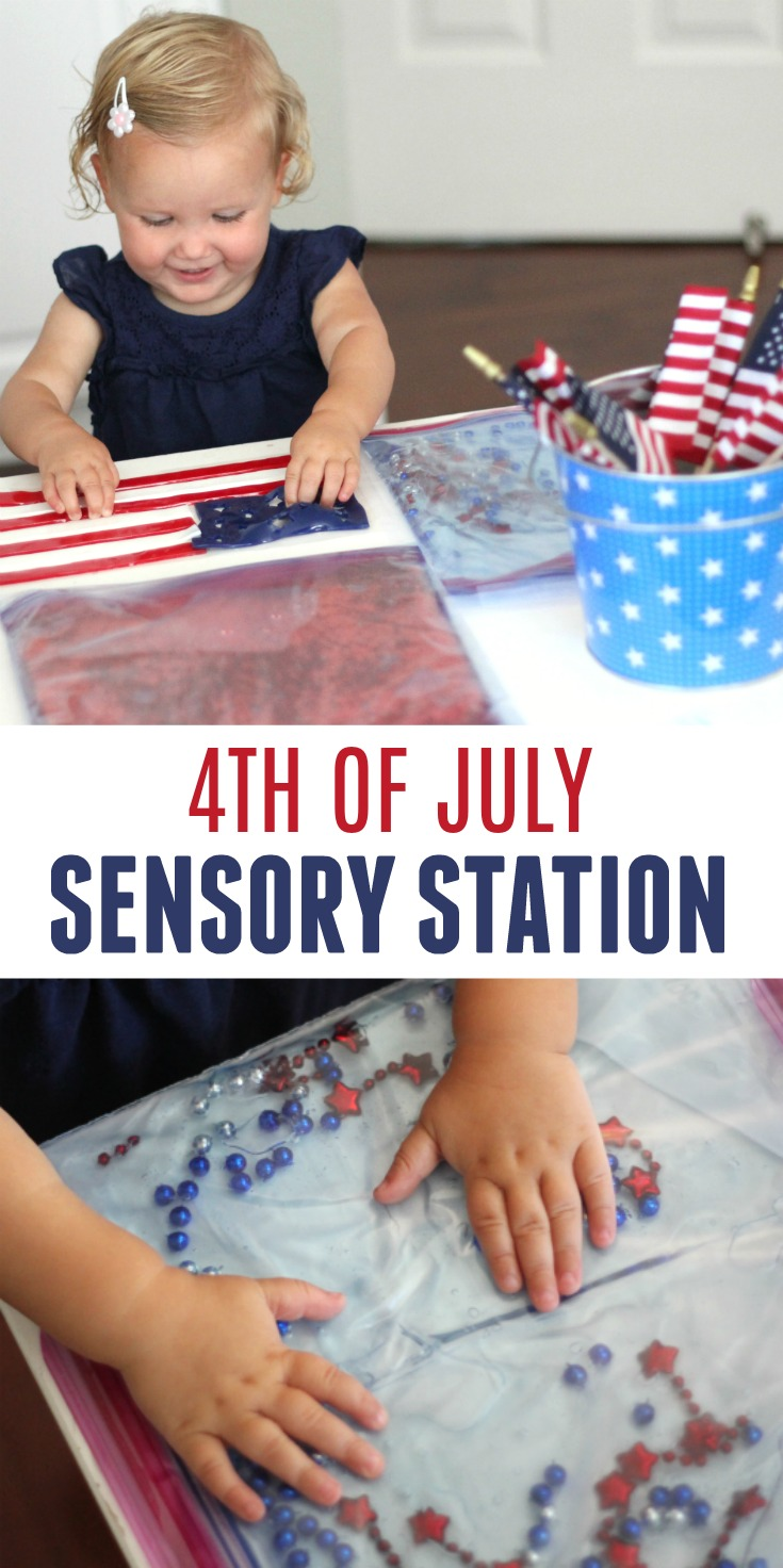 Toddler Approved Easy 4th Of July Sensory Station For Kids