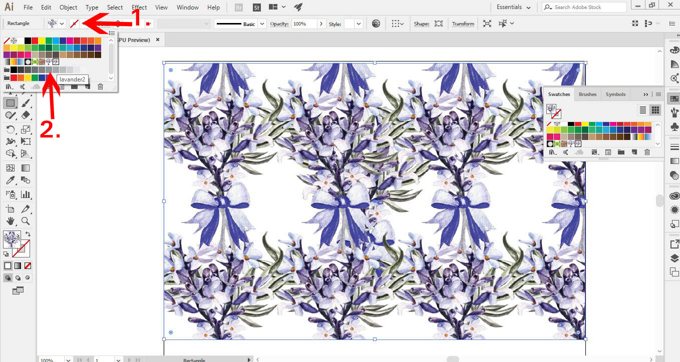 how to create a pattern on illustrator