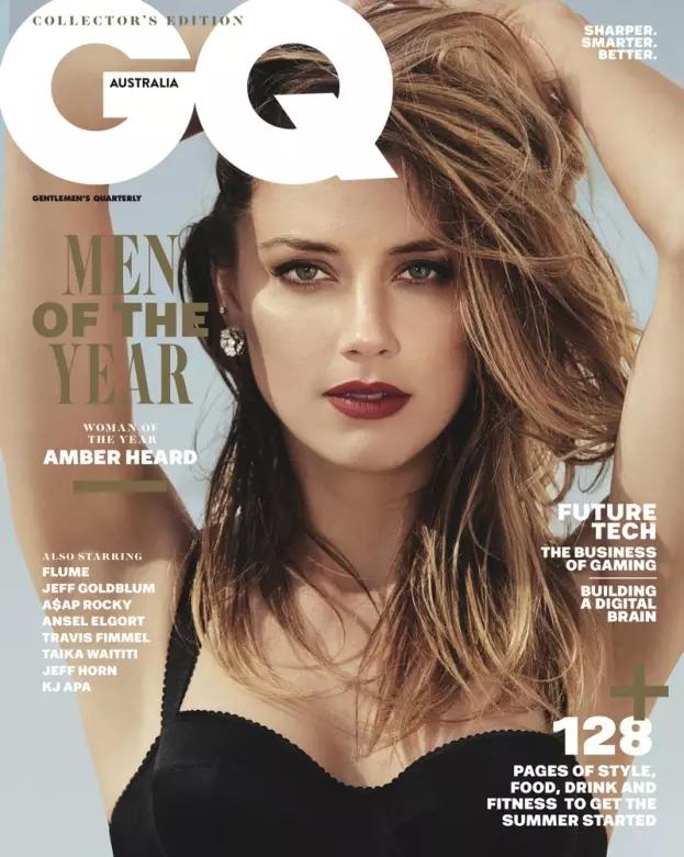Amber Heard cover GQ magazine december 2017 australian