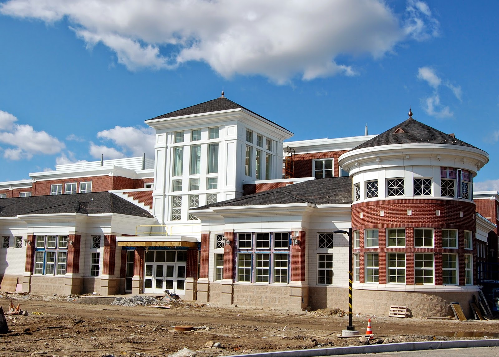 the new Franklin High School under construction