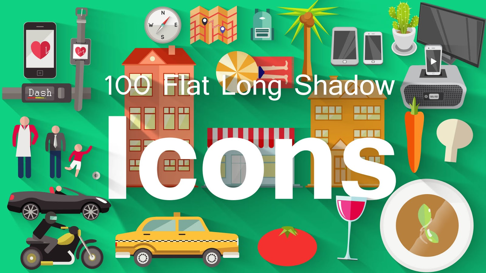 100-Flat-Long-Shadow-Icons-Pond5