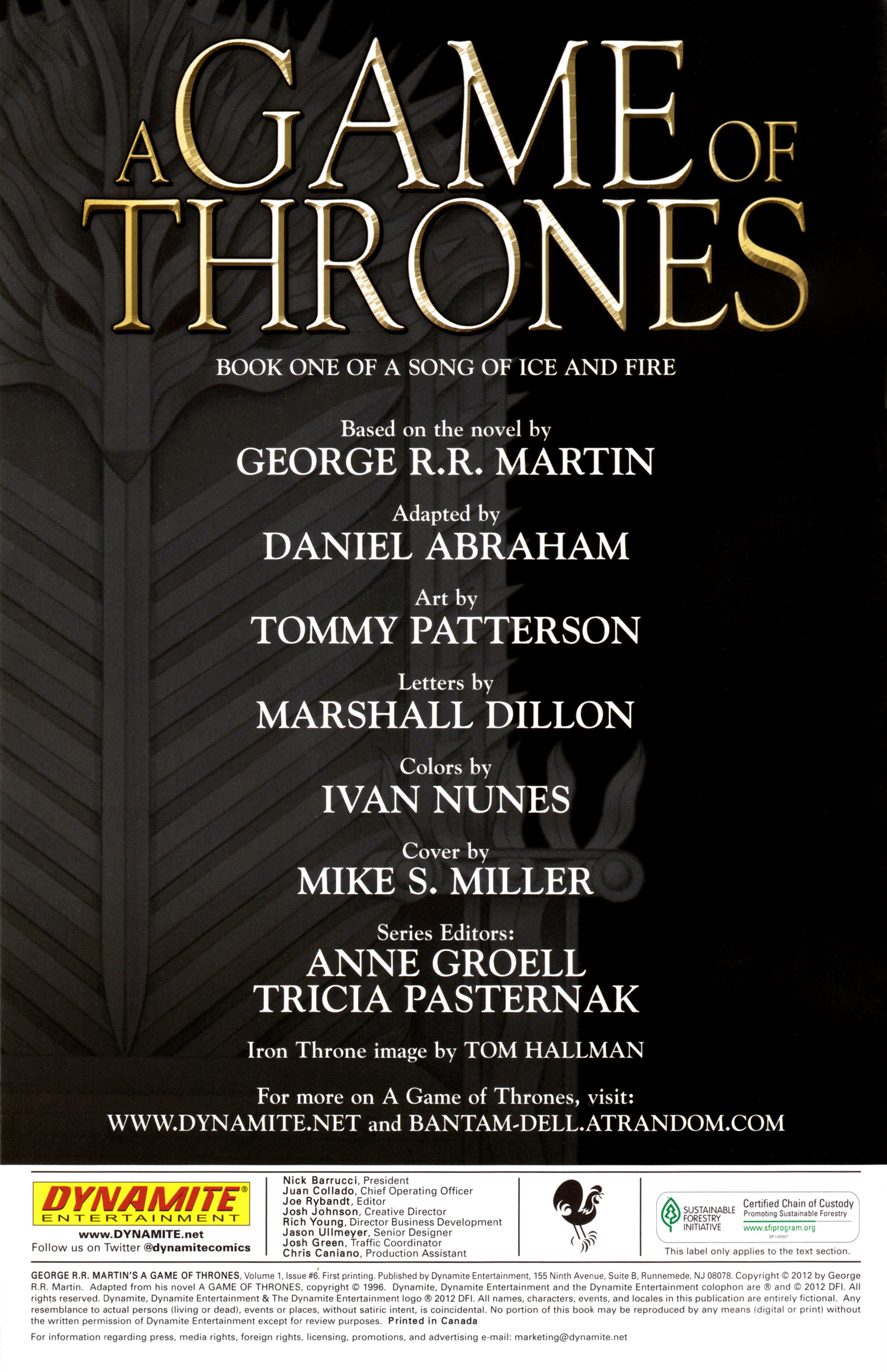 Read online A Game Of Thrones comic -  Issue #6 - 2