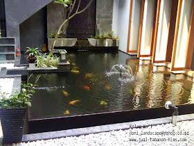 jual tanaman hias: taman kolam | tebing hias minimalis