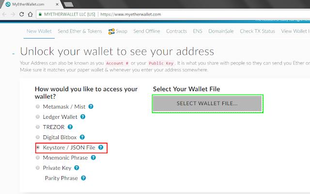 Daftar Token di Wallet MyEtherWallet