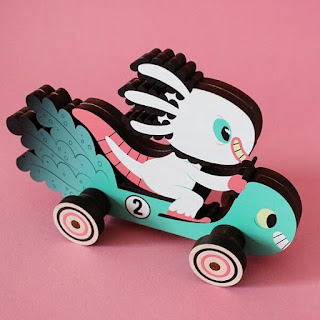 Designer Con 2017 Exclusive Wooper Looper #2 Wood Push Car by Gary Ham x Ink It Labs