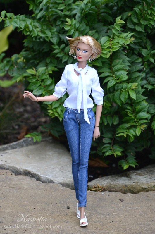 Handmade jeans for 12 ich doll