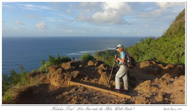 Kalalau Trail: Low Sun ends the Hike. With Smile !