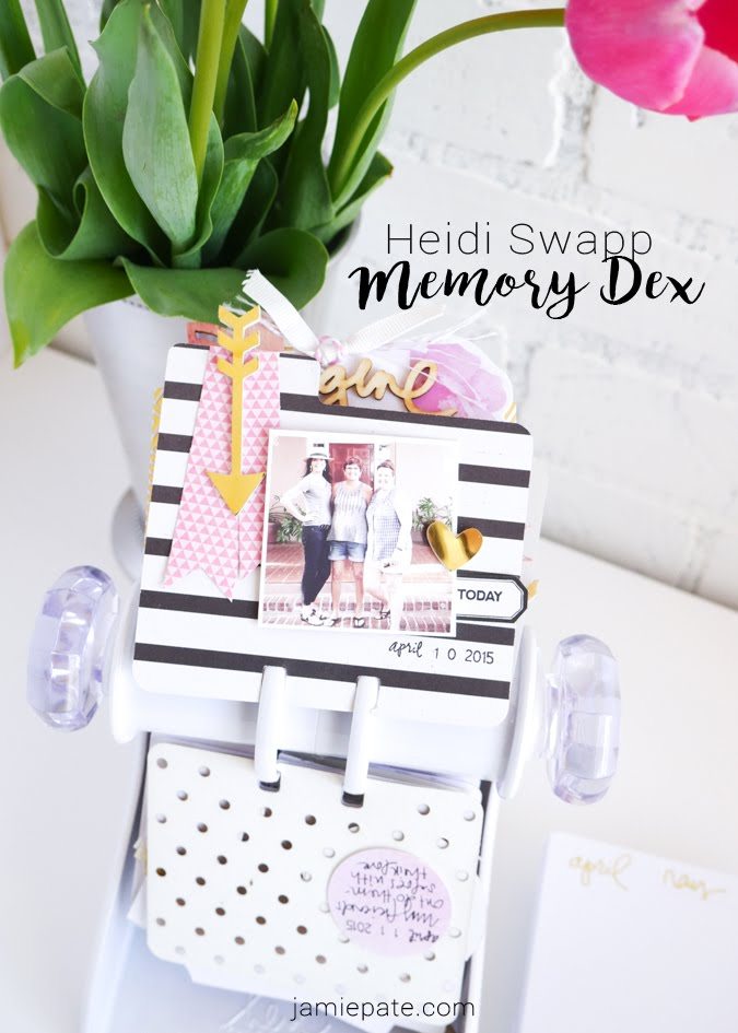 Heidi Swapp Memory Dex Spinner and Inspirational Living by Jamie Pate | @jamiepate for @heidiswapp