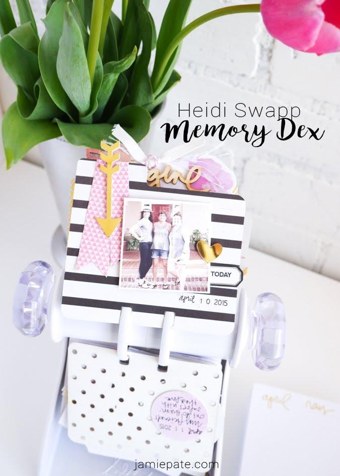 Heidi Swapp Memory Dex Spinner and Inspirational Living by Jamie Pate | @jamiepate for @heidiswapp