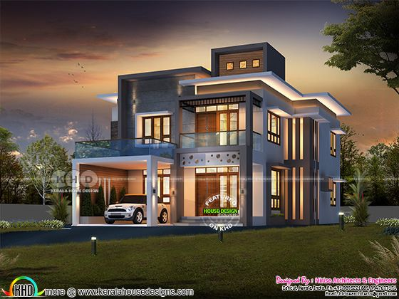 2450 square feet modern contemporary 4 bedroom home