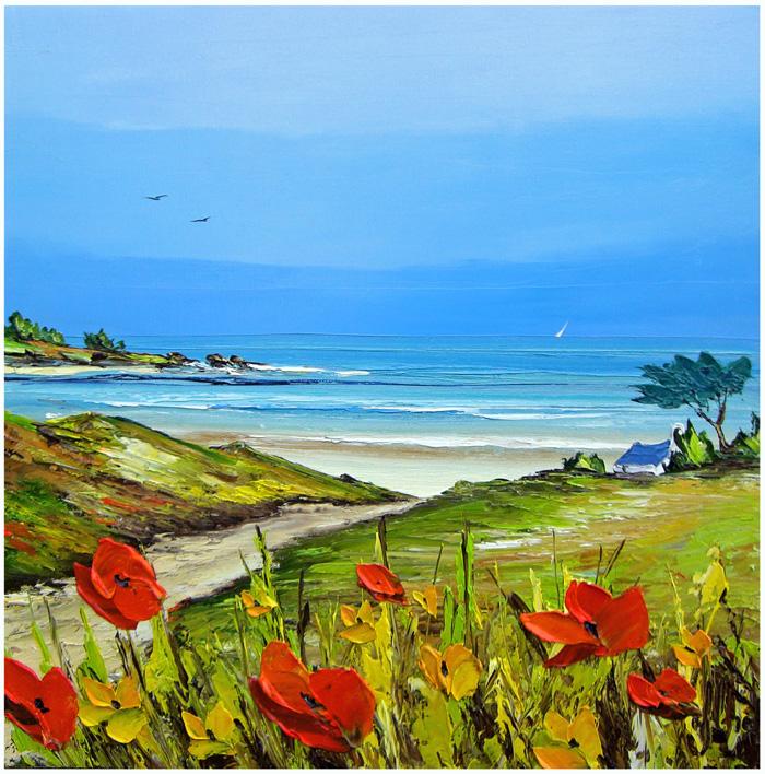 A Praia - Frédéric Flanet e suas belas pinturas com paisagem de praias