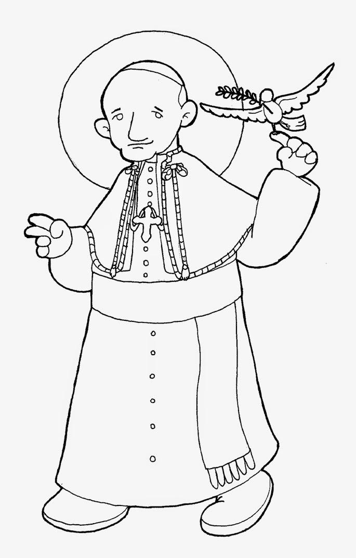 Dibujos para catequesis: PAPA SAN JUAN XXIII