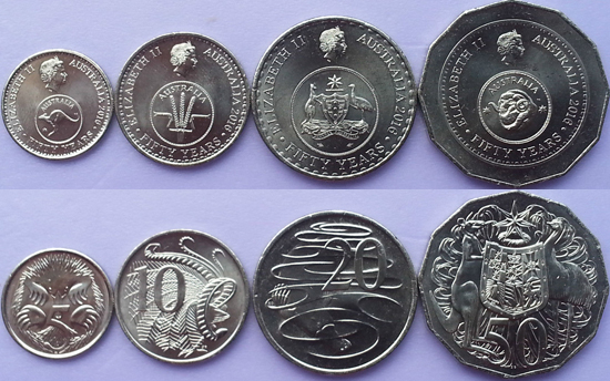 World Coin News Australia 2016 New Set 50th Anniversary Of Decimal Currency
