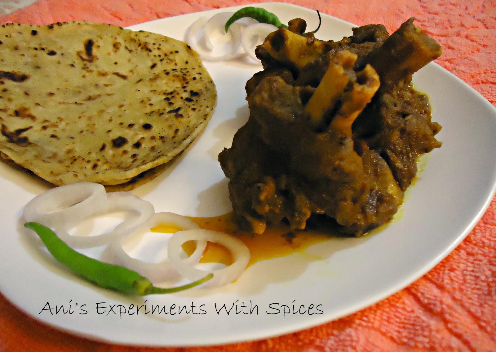anis experiments with spices golbarir kosha mangsho