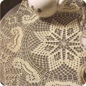 Tapete de color crema a Crochet