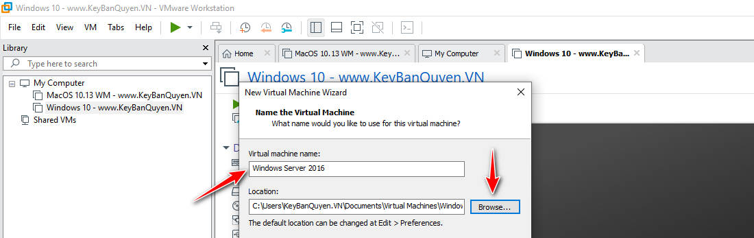 Hướng dẫn tạo máy ảo với VMware Workstation Pro 15 .