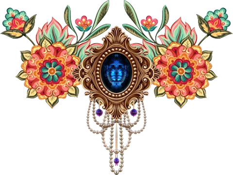 Vector Art flower and Jwellery