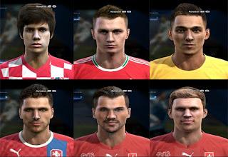 Faces: Lovre kalinic, Jan Kovarik, Haris Seferovic, Frei Fabian, Ante Coric, Adam Lang, Pes 2013