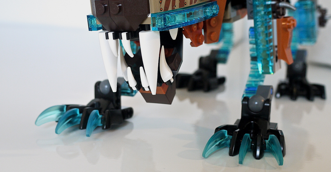 how to make a lego saber tooth tiger