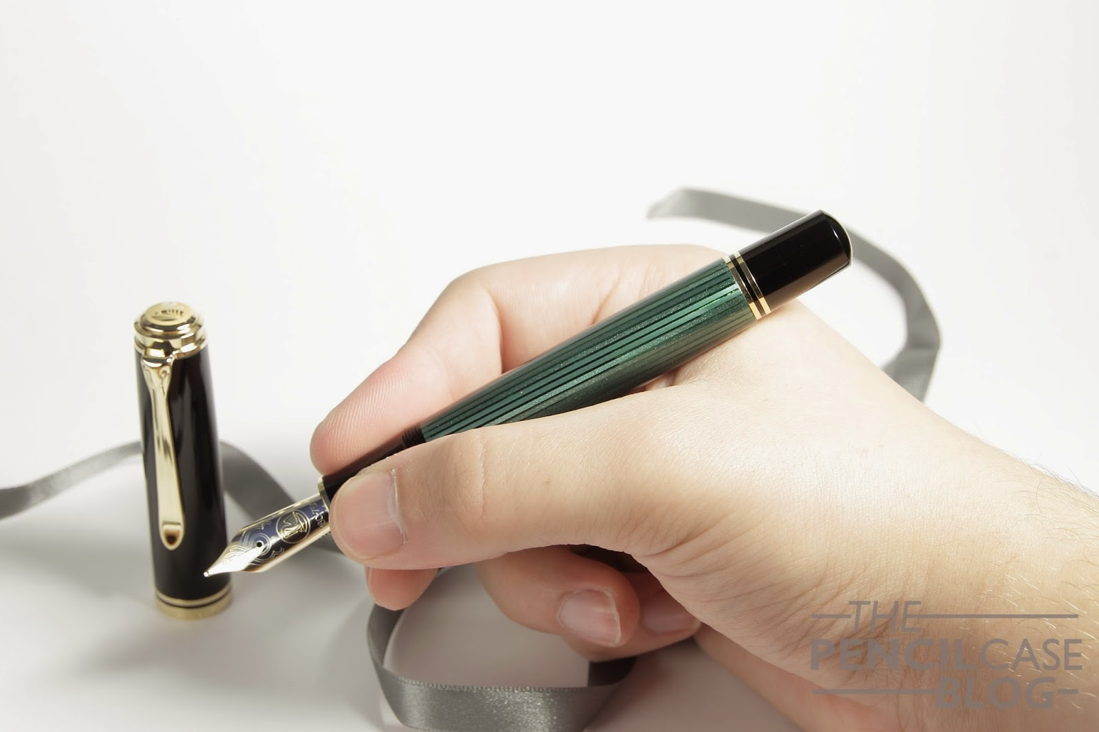 Pelikan M1000 fountain pen in hand