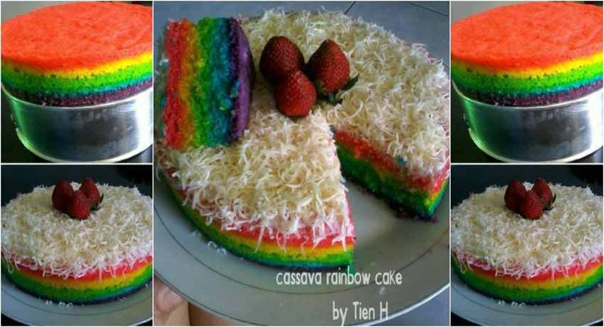 Resep Membuat Kue Bolu Kukus Singkong Rainbow
