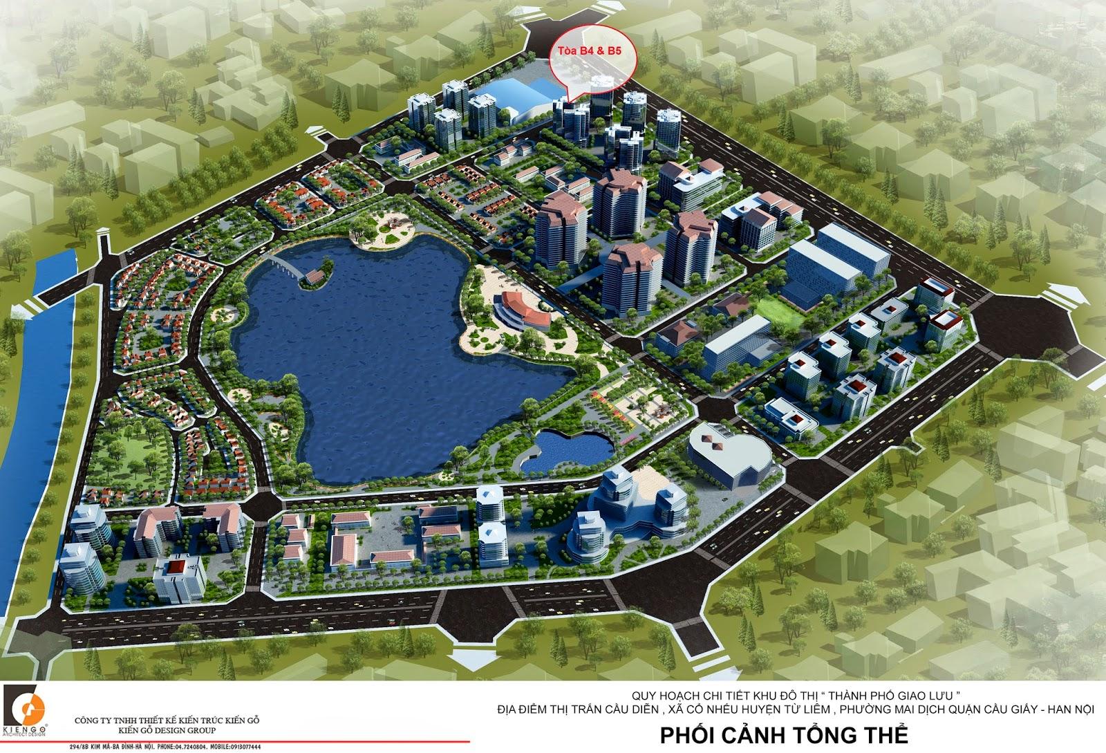 Tổng thể chung cư Green Star - thành phố Giao Lưu