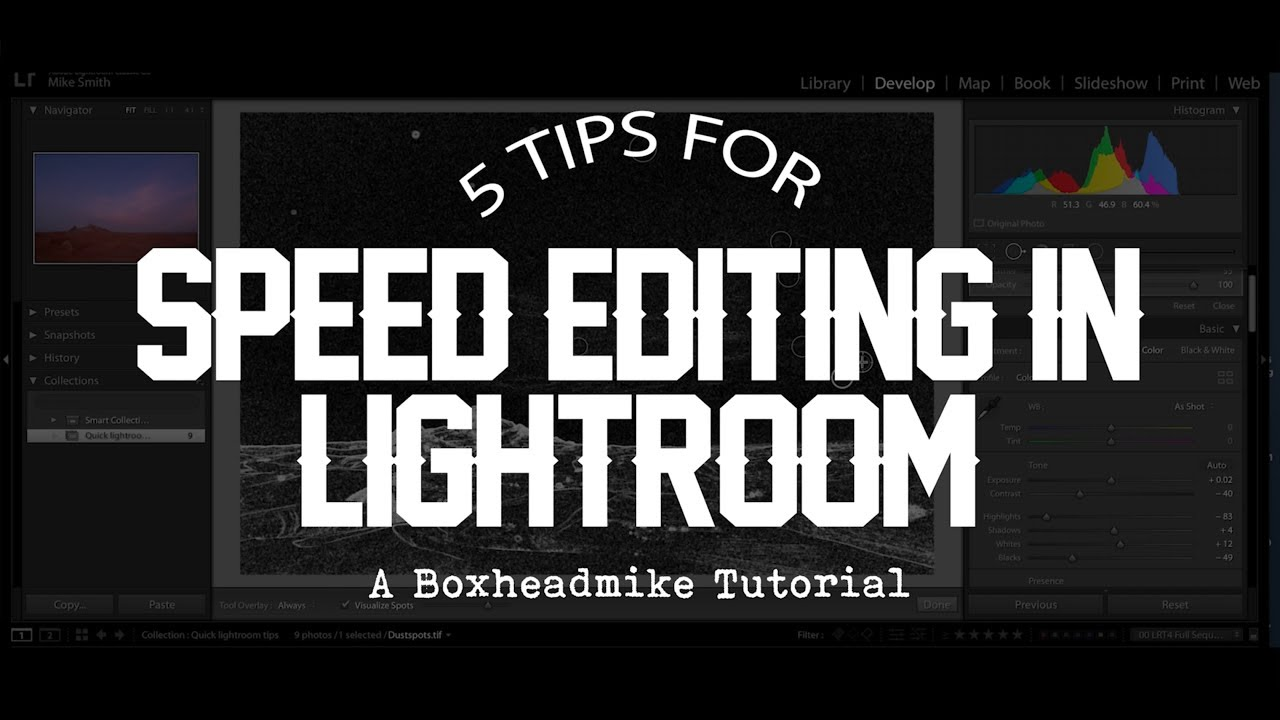5 tips for speed editing in Adobe Lightroom