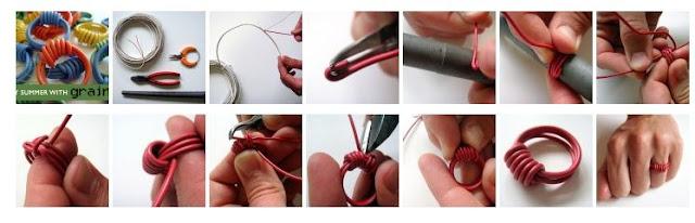 anillos, pulseras, cables, macrame, reciclado, tutorial, manualidades