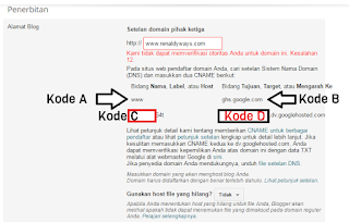 Cara Memasang Domain Blogspot Di Namecheap