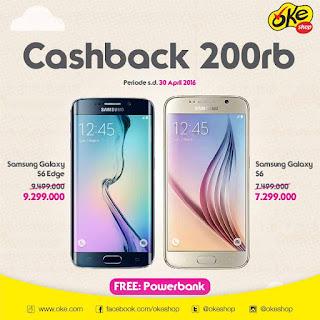 Promo Samsung Galaxy S6 dan S6 edge di OkeShop