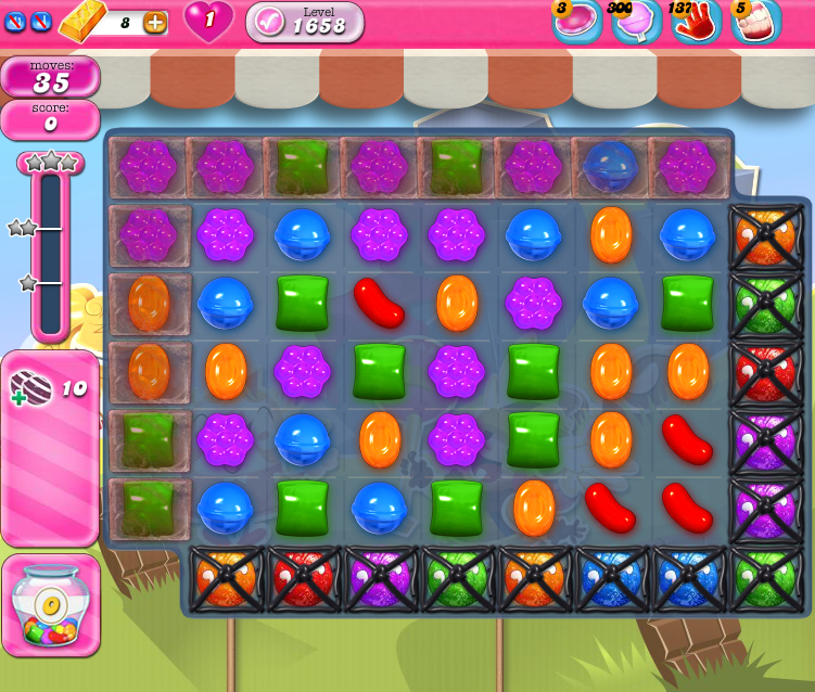 Candy Crush Saga 1658