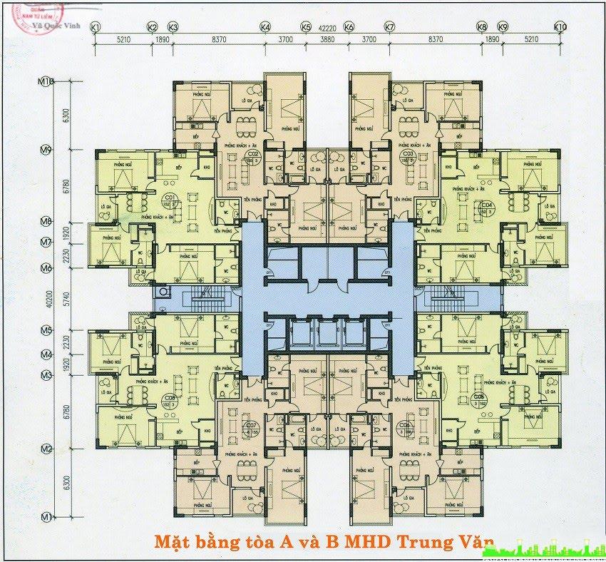 Mặt bằng chung cư MHD Trung Văn