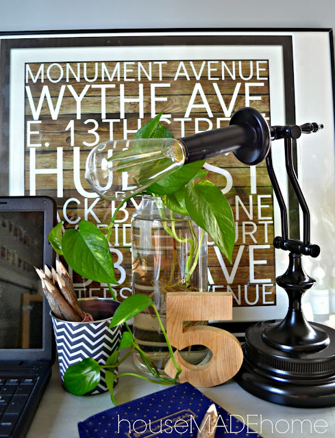 Restoration Hardware Inspired Industrial Task Lamp {House Made Home}