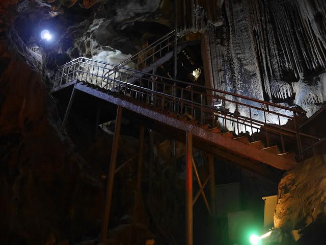 metal stairs at Panlong Cave in Yunfu