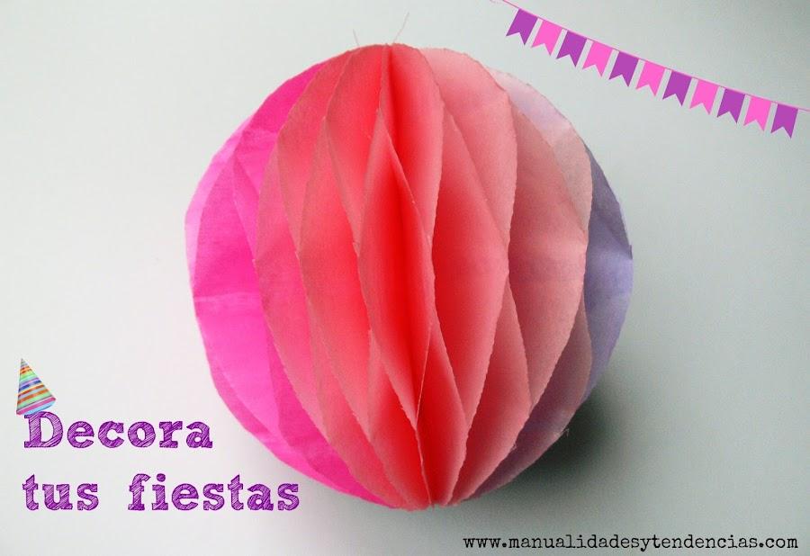 Cómo hacer pompones de papel de seda para decorar fiestas