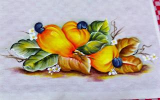 cajus pintados em tecido
