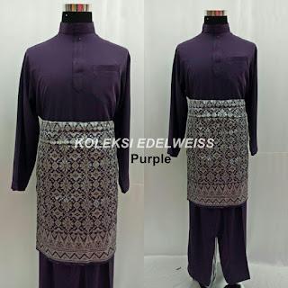 Baju Melayu Cekak Musang  Purple