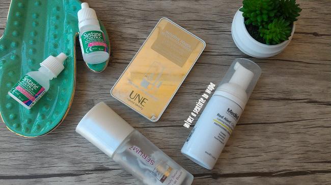 Gotas de ojos Systane - Serum de Boots - Limpiadora Mousse de Medik 8 - Maquillaje BBCream de UNE
