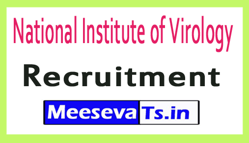 National Institute of Virology NIV Recruitment