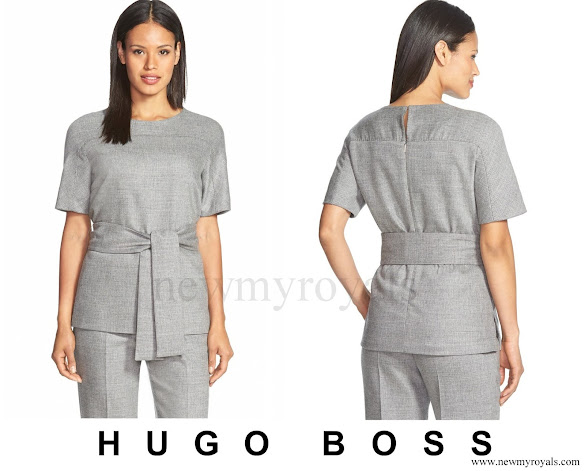Crown Princess Mary wore BOSS Itoni Belted Top