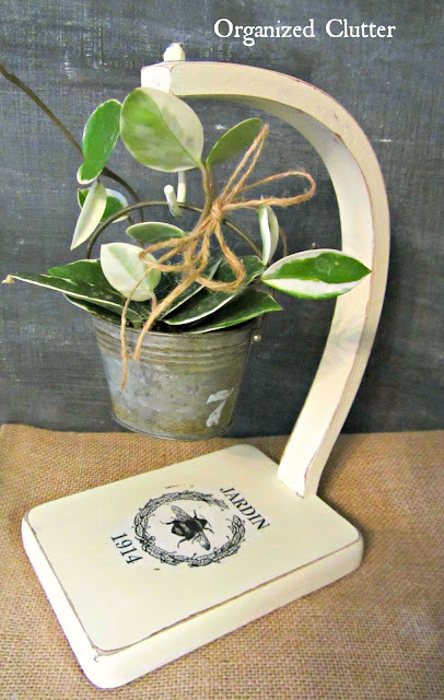 Thrift Shop Banana Stand Repurposed as Plant Stand
