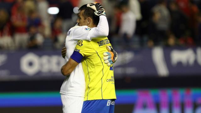 David García se abraza con Ráúl Lizoaín