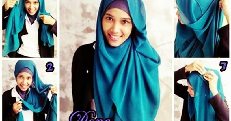 cara memakai jilbab tren tutorial jilbab tren busana terbaru