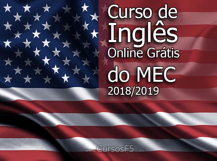 Curso de Inglês Online Grátis do MEC 2018-2019