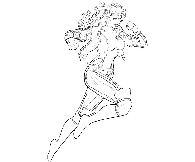 rogue x men coloring pages - photo#6