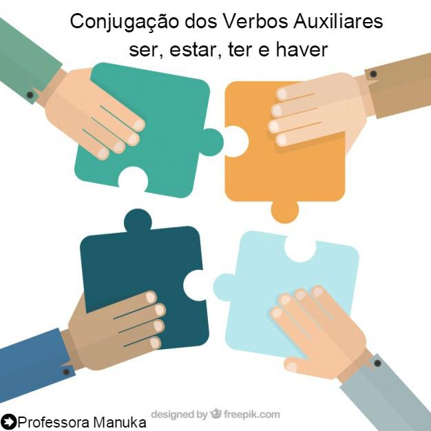 Conjugação dos verbos auxiliares ser, estar, ter e haver